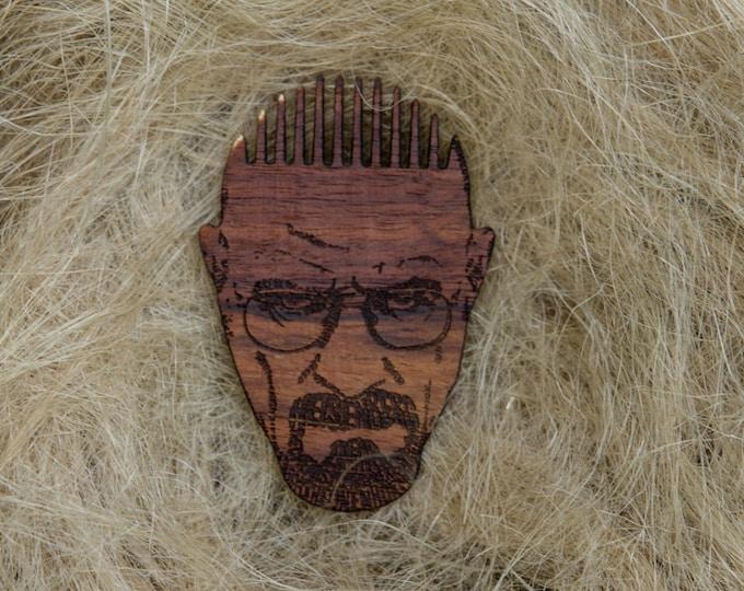 Breaking Bad Heisenberg Themed Wooden Beard Comb - Pocket Beard Comb - Handmade Wooden Beard Brush -Beard Care-Father's Day Gift-Beard Brush