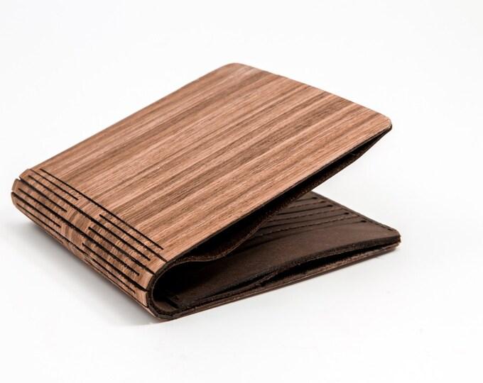 Alpine nut wallet | Handmade wooden wallet | Brown wallet | Handmade alpine nut wallet | Alpine nut wood wallet | christmas gift