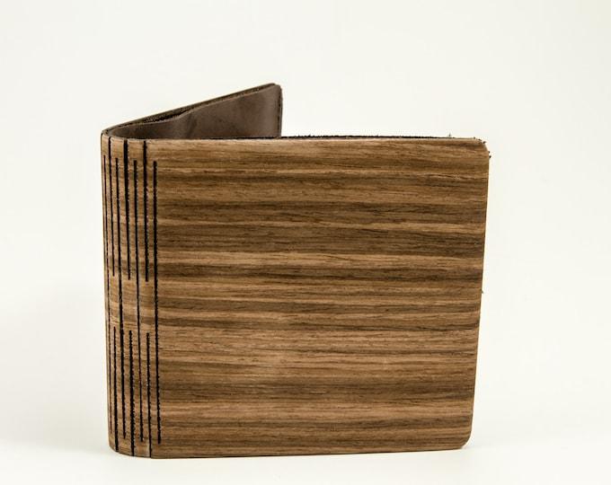 Alpine nut wooden wallet | Wooden wallet | Handmade wood wallet | Brown wallet | Mens wallet | Anniversary gift | Wood wallet