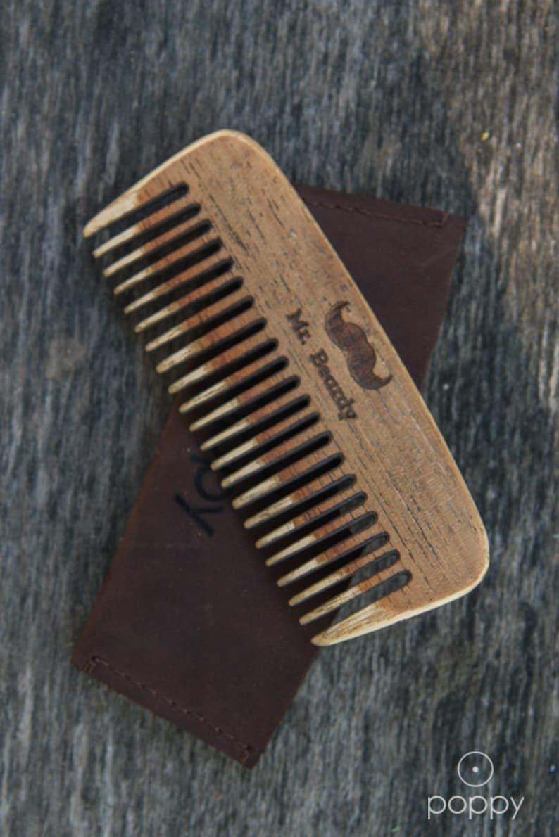 Wooden Beard Comb | Mr  Beardy Large Custom Comb | Handmade Beard Comb |  Personalized Pocket Comb | Wooden Beard Brush, christmas gift