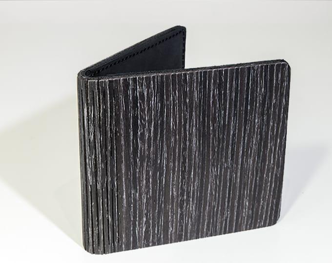 Wooden wallet | Handmade wallet | Dark oak wallet | Black wood wallet | Black wallet | Anniversary gift | Groomsmen gift