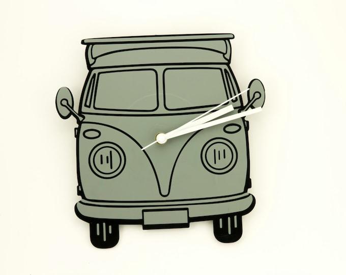 Vinyl record | Volkswagen van clock | Volkswagen wall clock | Vintage wall clock | Vinyl record clock | Car wall clock | Minimalist clock