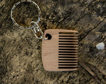 Mini comb | Wooden beard comb | Keychain comb | Beard Comb | Beard Brush | Moustache Comb