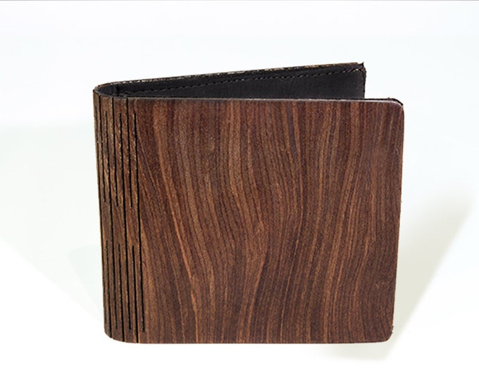 Wooden wallet and card holder | Handmade wallet | Amaranth root wallet | Anniversary gift wood wallet | Mens wallet | christmas gift