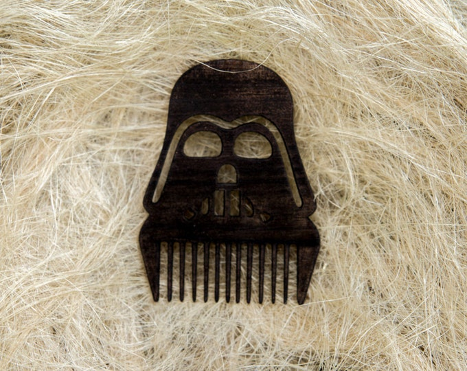 Star Wars Darth Vader Themed Wooden Beard Comb - Father's Day Gift - Pocket Beard Comb - Beard Brush - Hand Made Comb - Beard Care