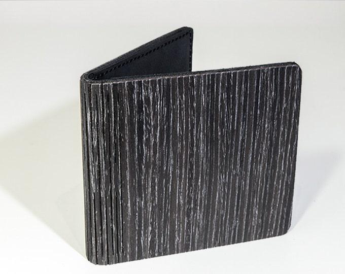 Wallet for men | Wooden wallet | Custom wallet | Laser cut wallet | Wooden card holder | Engraved wood wallet | Groomsmen gift |Black wallet