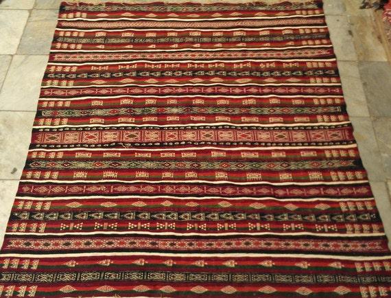 Tappeti Kilim Tunisini : Kilim tappeti multicolor rosso marrone nero blu verde teppich etsy