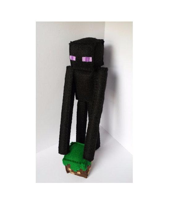 Minecraft Enderman Stuffed Plush Minecraft Doll Birthday Gift Endermen Handmade Felt Minecraft Plush The End Mto