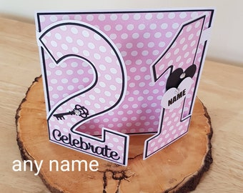 21st Birthday Card For Daughter Sister Niece Granddaughter Her Girl Personalised Large Number Cards A 21 Year Old Female Friend
