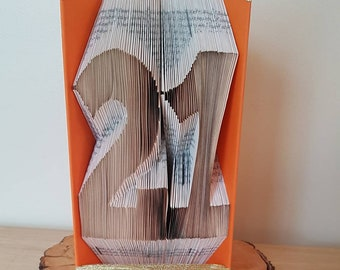Personalised 21st Birthday Card Gift For Son Daughter Present Idea Girlfriend Sister Boyfriend Brother Large Number 21 Folded Book Art