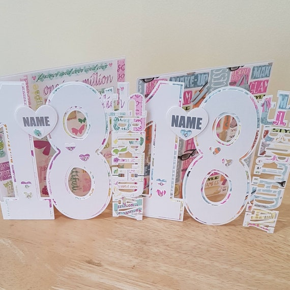 Girlie Girl 18th Birthday Card For Daughter Sister Niece