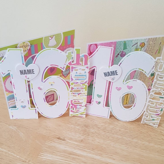 Personalised Birthday Card For A 16 Year Old Girl Daughter