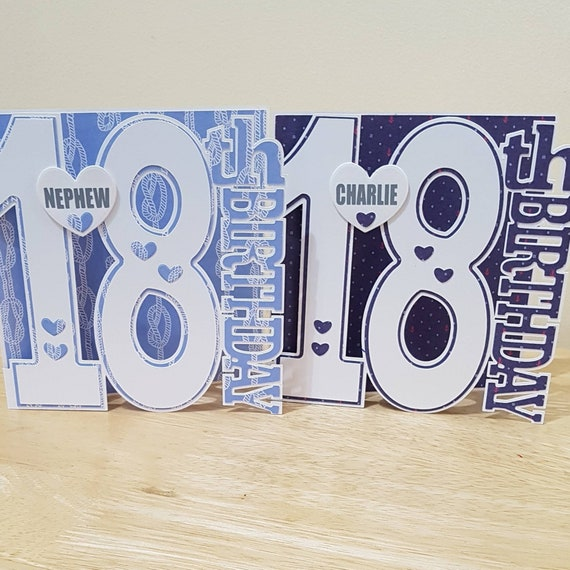 Personalised 18th Birthday Card Number Cards For 18 Year Old