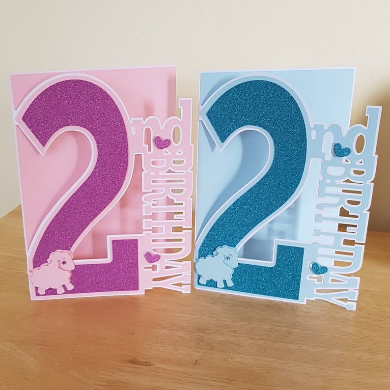 Personalised Birthday Card For A 2 Year Old Girl Boy 2nd