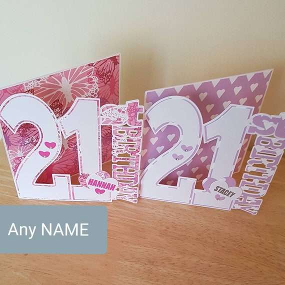 21st Birthday Card For Daughter Sister Niece Granddaughter Etsy