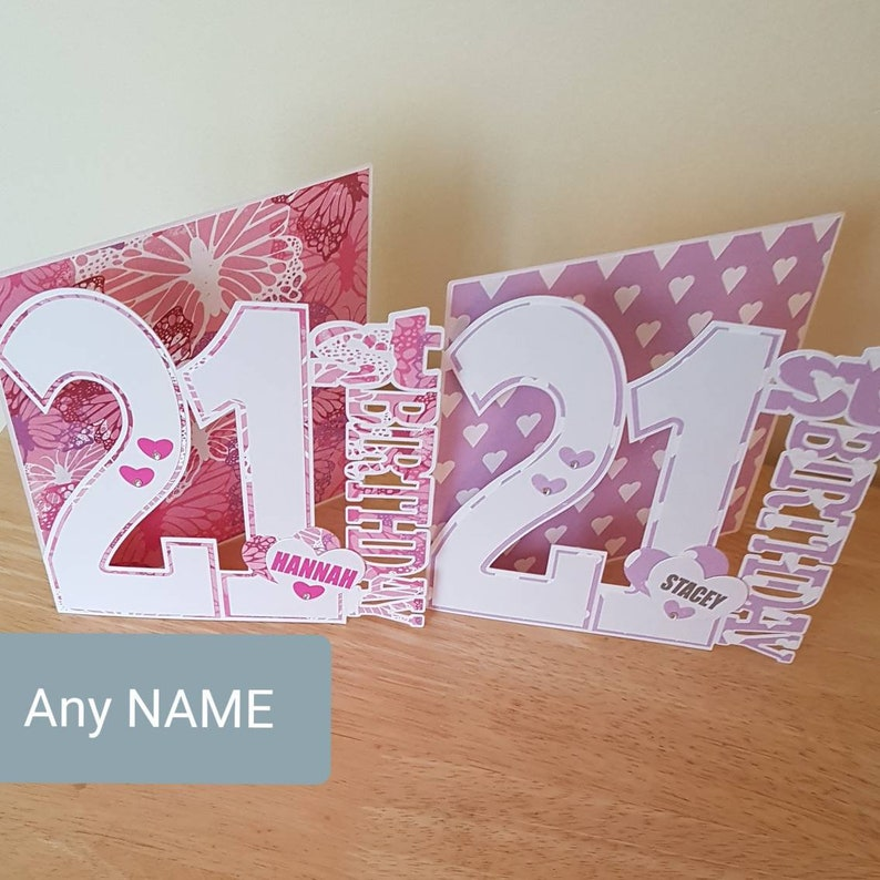 21st Birthday Card For Daughter Sister Niece Granddaughter Her Girl