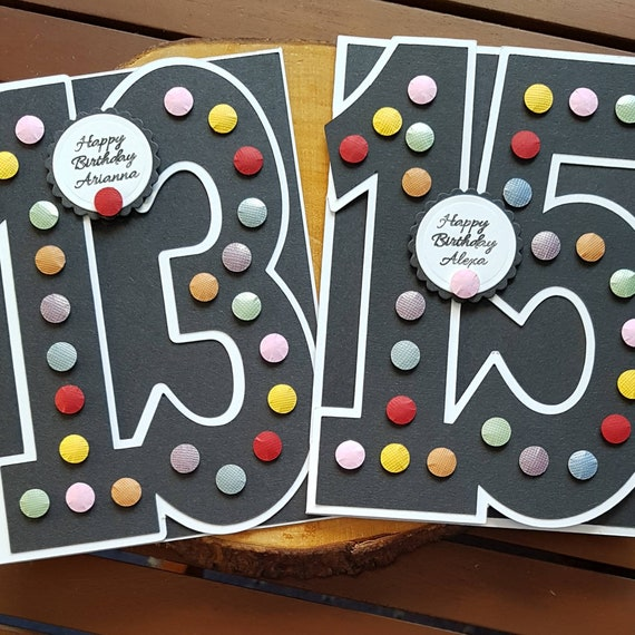 Marvelous Personalised Age Birthday Card For A 13 14 15 16 17 18 Year Etsy Funny Birthday Cards Online Barepcheapnameinfo