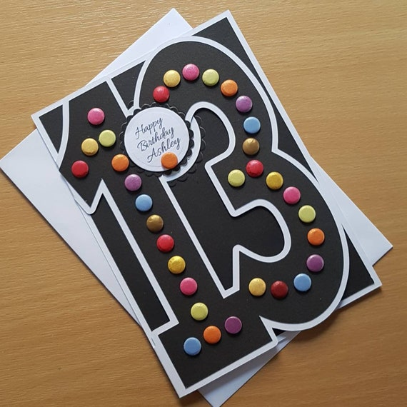 Personalised Birthday Card For A 13 14 15 16 17 18 Year Old