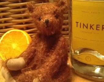 """Tinker, een 7"""" limited edition handgemaakte mohair collector's Beer"""