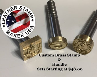 Custom Leather Stamps O Handle Included Made In USA 3 8 Thick Brass