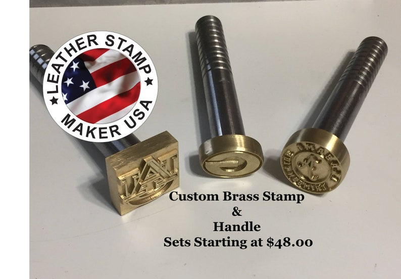 Custom Leather Stamps Handle Included Made In USA 3 8
