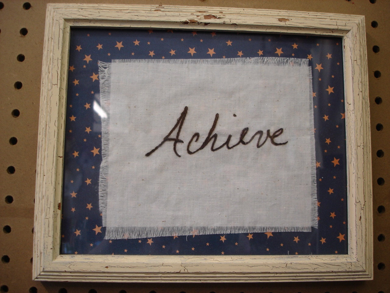 Inspiring,Phrases,Hand,Stitched,Achieve,Framed,Housewares,Home_Decor,home_decor,phrase,hand_stitch,inspiring,inspire,frame,framed_phrase,for_your_home,wall_decor,gift,houseware,reclaimed,wood,paper,fabric