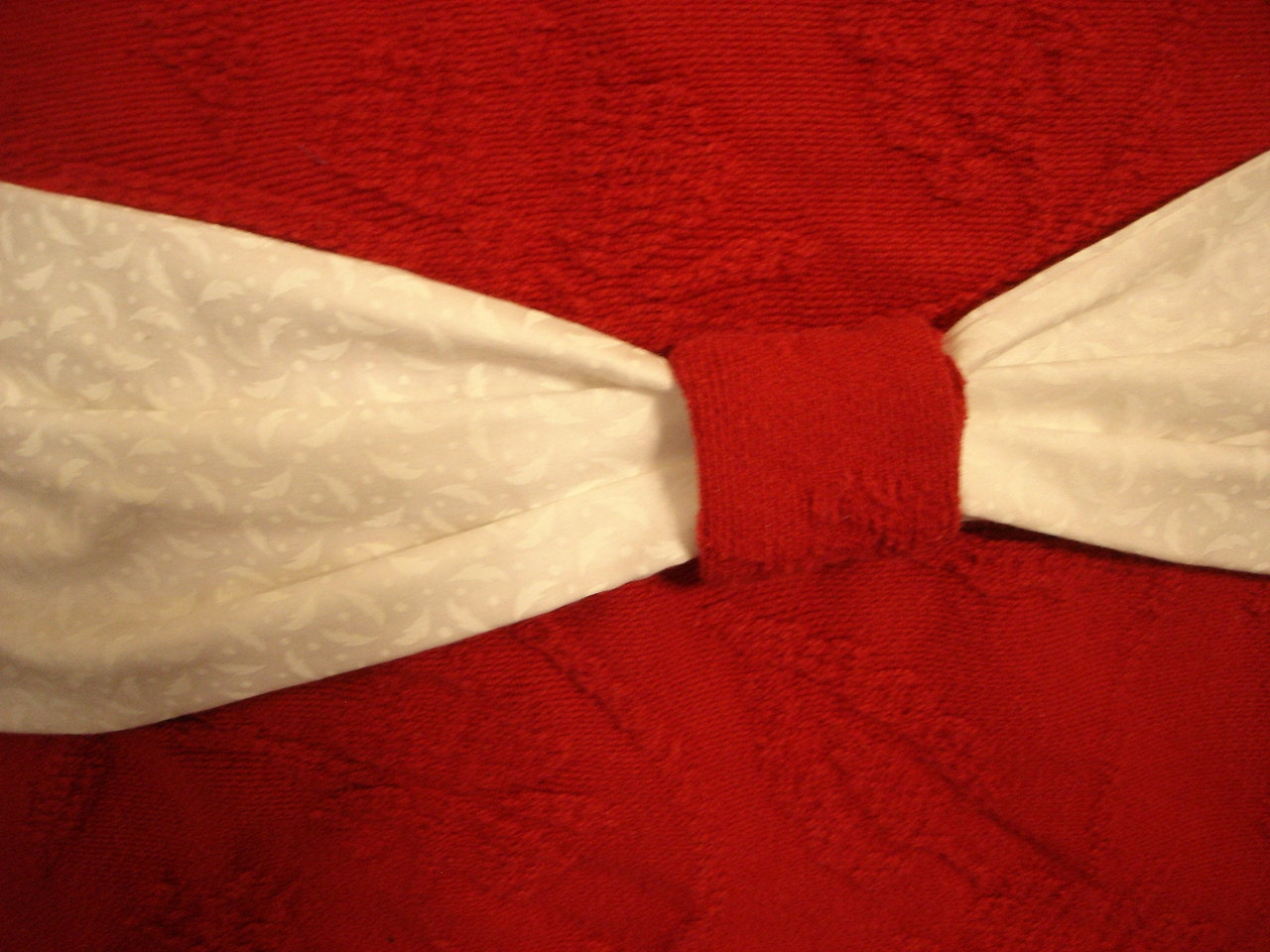 Woven Red Embossed Pillow Pocket 18 inch Vintage Upcycled Quilt - product image