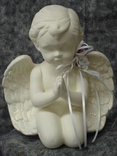 Large,Praying,Cherub,Centerpiece,Housewares,Home_Decor,cherub,centerpieces,praying_cherub,ceramic_bisque,wedding,shower,garden,for_your_home_shop,kg_krafts,angels,angel,statue,decorated_angel,silk,ceramic bisque,ribbon