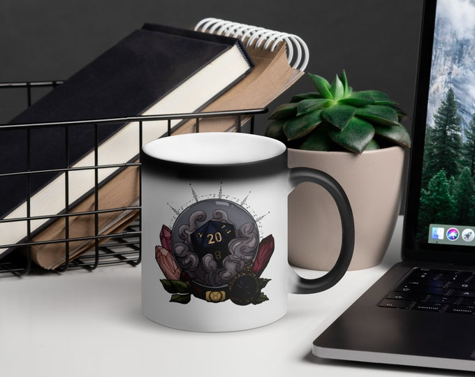 Taurus D20 Heat-Activated Color Change Mug - D&D Tabletop Gaming - Zodiac