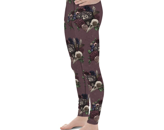 Necromancer D20 Men's Leggings - D&D Tabletop Gaming