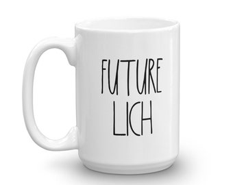 Future Lich - White Mug - D&D Tabletop Gaming - Rae Dunn Inspired