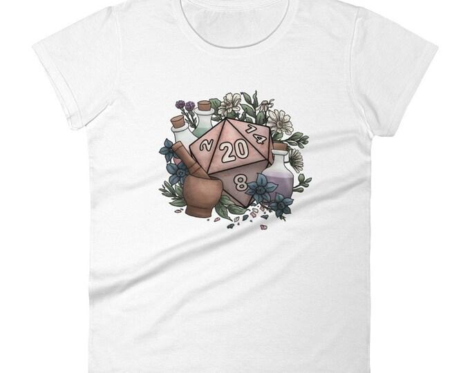 Alchemist D20 Women's short sleeve t-shirt - D&D Tabletop Gaming