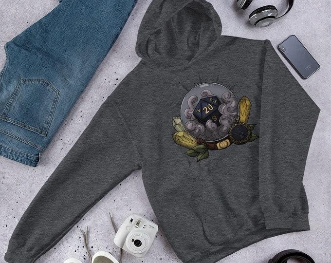 Gemini D20 Unisex Hoodie Sweatshirt - D&D Tabletop Gaming - Zodiac