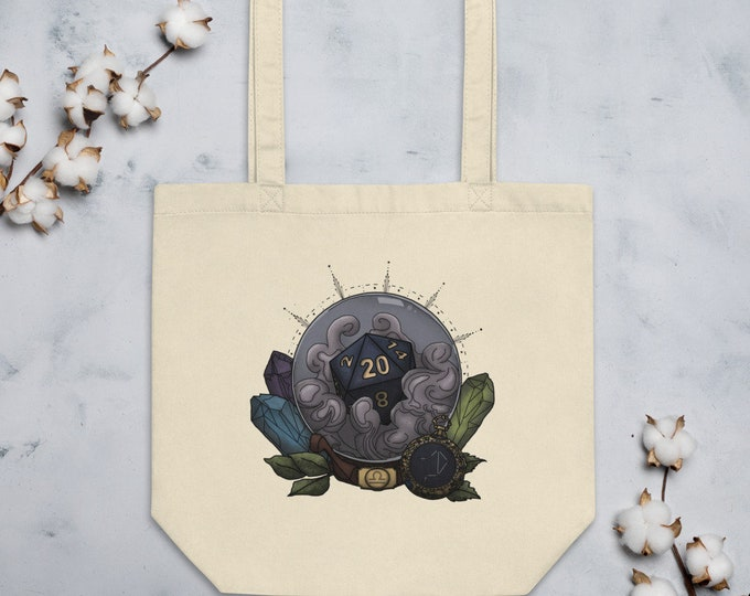 Libra D20 Tote Bag - D&D Tabletop Gaming - Zodiac
