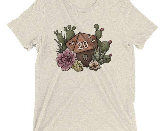 Desert D20 - Triblend SUPER SOFT T-shirt - D&D Tabletop Gaming