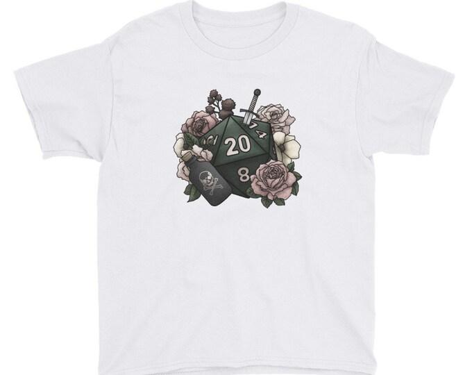 Rogue Class D20 Youth Kids Short Sleeve T-Shirt - D&D Tabletop Gaming