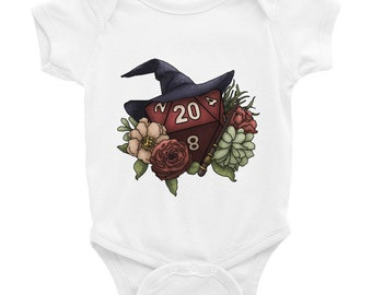 Wizard Class D20 Infant Bodysuit - D&D Tabletop Gaming