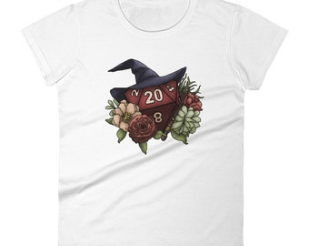 Wizard Class D20 Women's short sleeve t-shirt - D&D Tabletop Gaming