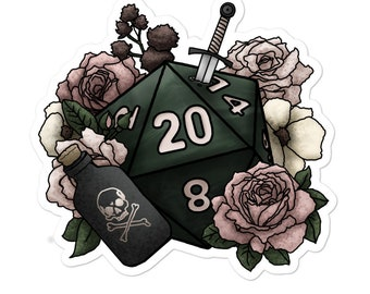 Rogue Class D20 - Vinyl Sticker - D&D Tabletop Gaming