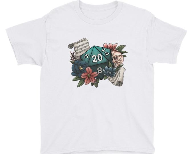 Bard Class D20 Youth Kids Short Sleeve T-Shirt - D&D Tabletop Gaming