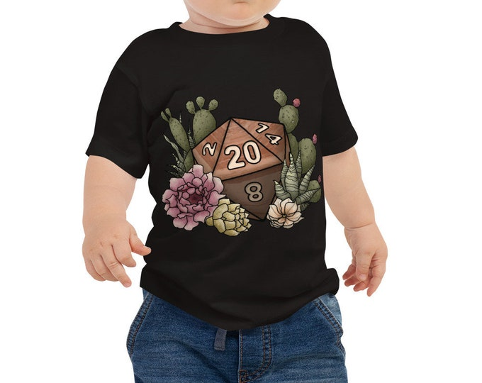 Desert D20 - Baby Jersey Short Sleeve Tee - D&D Tabletop Gaming
