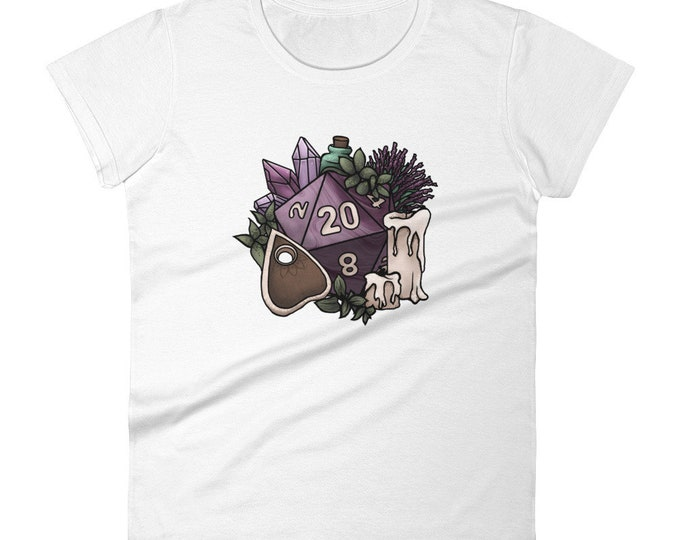 Witchy D20 Women's short sleeve t-shirt - D&D Tabletop Gaming