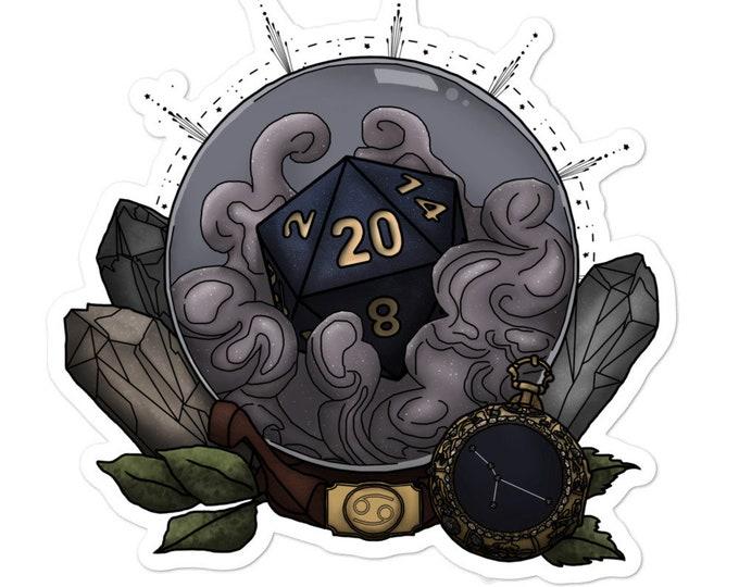 Cancer D20 Vinyl Sticker - D&D Tabletop Gaming - Zodiac