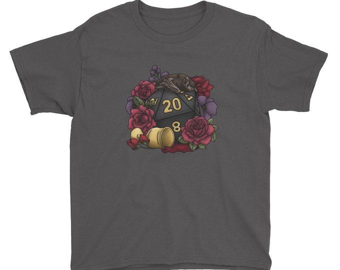 Vampire D20 Youth Kids Short Sleeve T-Shirt - D&D Tabletop Gaming