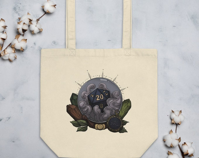 Virgo D20 Tote Bag - D&D Tabletop Gaming - Zodiac