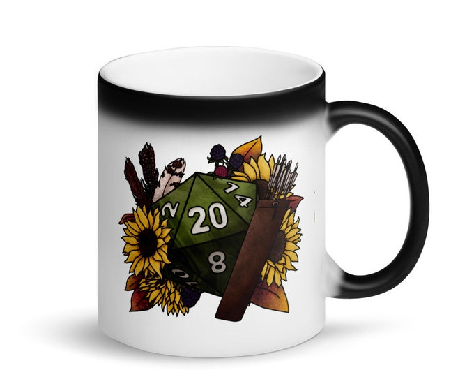 Ranger D20 - Heat Activated Color Change Mug - D&D Tabletop Gaming