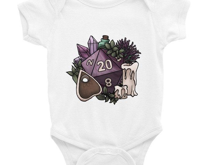 Witchy D20 Infant Bodysuit - D&D Tabletop Gaming