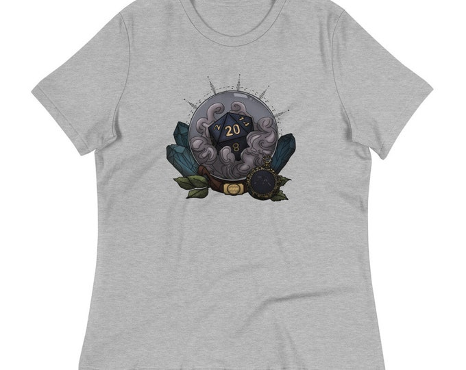 Aquarius Astrology D20 Women's Relaxed T-Shirt - D&D Tabletop Gaming - Zodiac