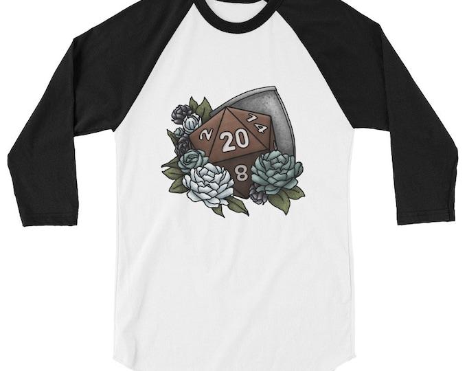Paladin Class D20 3/4 sleeve raglan shirt