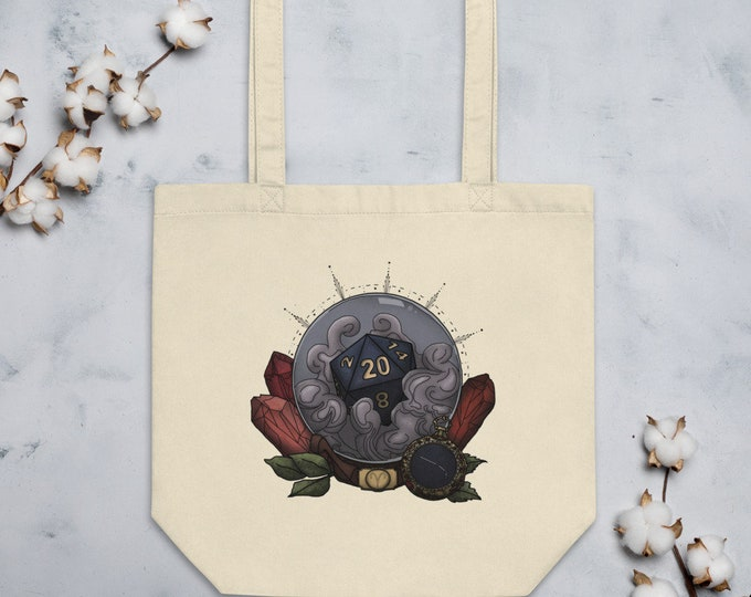 Aries D20 Tote Bag - D&D Tabletop Gaming - Zodiac